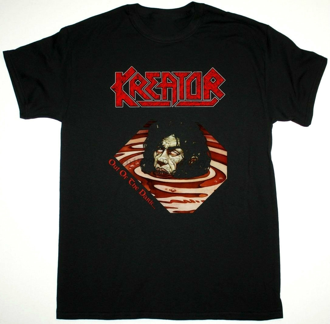 Camiseta de KREATOR fuera de la oscuridad en la luz negra Sodoma DESTRUCTION DEATHROW hombres mujeres Unisex moda camiseta envío gratis
