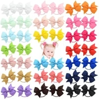 hhyed 1pcs novelty boutique grosgrain ribbon bow elastic hair tie rope hair band bows with kids hair accessories