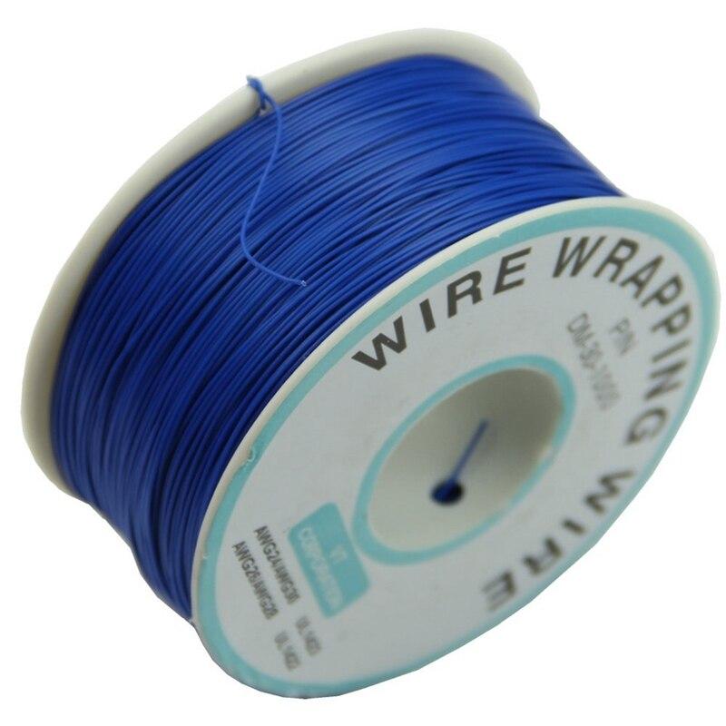 Cable de envoltura de alambre de 0,25mm, 30AWG, 305m, nuevo (azul)