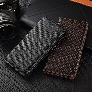 Business Genuine Leather Flip Case For Xiaomi Redmi Note 2 3 4 4X 5 6 7 8 8T K20 K30 10X 5G Pro S2 Go Plus Cell Phone Cover