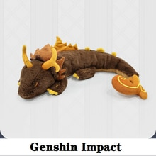 Rock King Zhong Li Cosplay เกม Genshin Impact Plush ตุ๊กตา Anime โครงการหมอนนุ่มตุ๊กตาของเล่นตุ๊กตาเด็กของขวัญ Xmas dragon