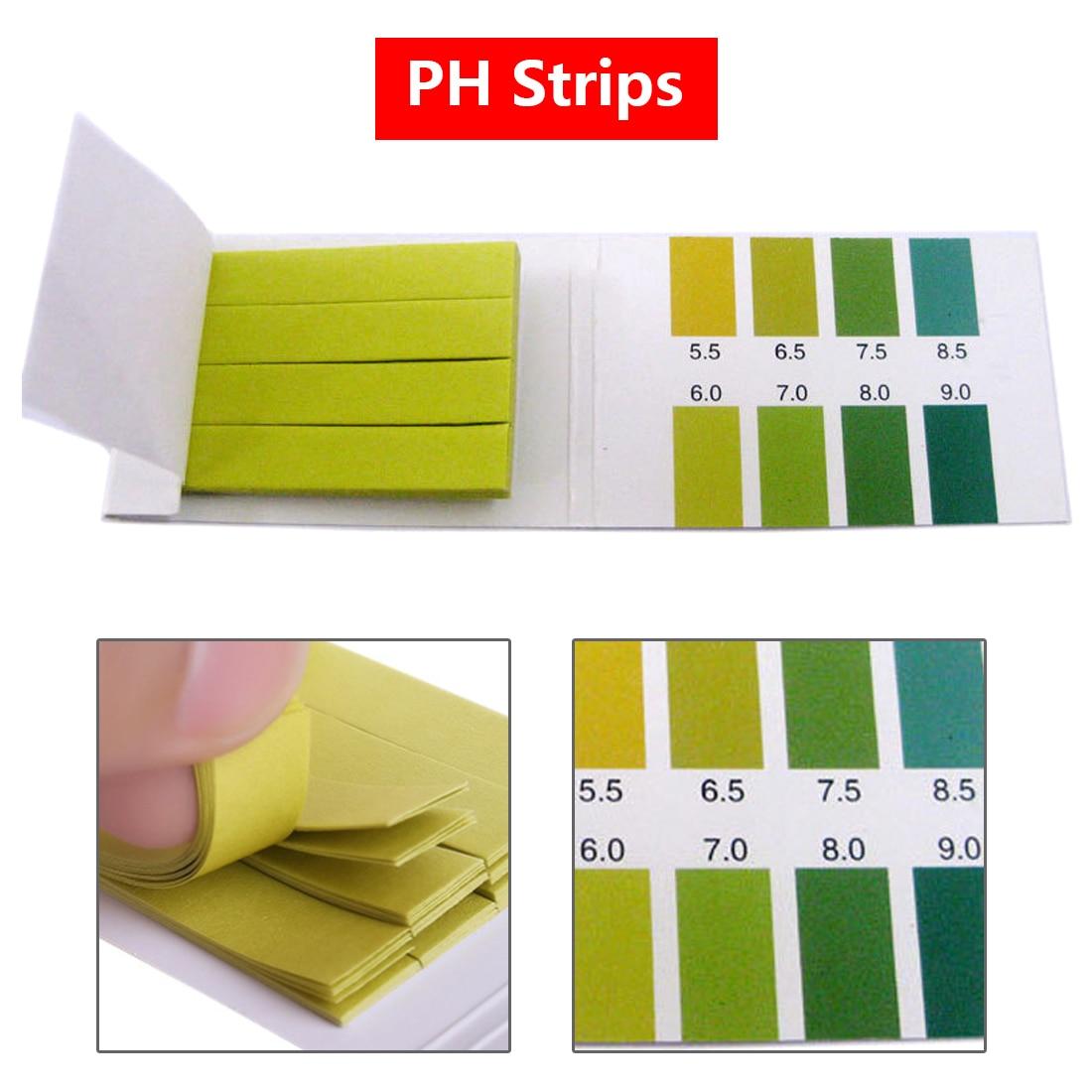 80 strips short range ph alkaline acid 0 5 5 0 indicator litmus paper ph test strips 30%off 80 Strips/pack pH test strips PH Meter Paper PH Controller 5.5-9.0 Indicator Litmus Paper Aquarium Water Soilsting Kit