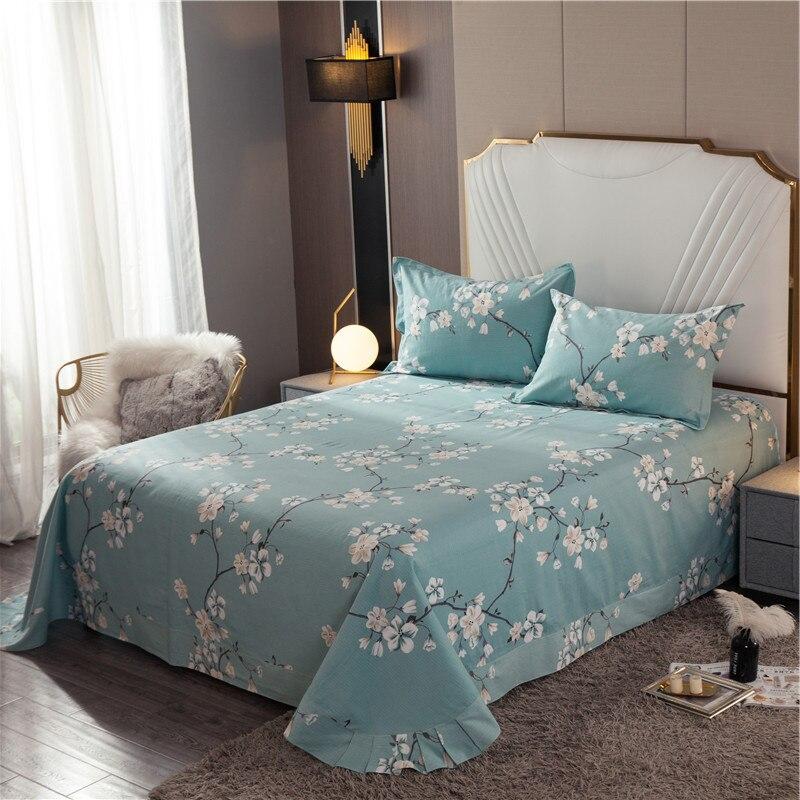 Yaapeet 1 قطعة نبات ملون ملايات سرير مطبوعة الكرتون غطاء السرير عالية الجودة تنفس جميلة ورقة مسطحة دون المخدة