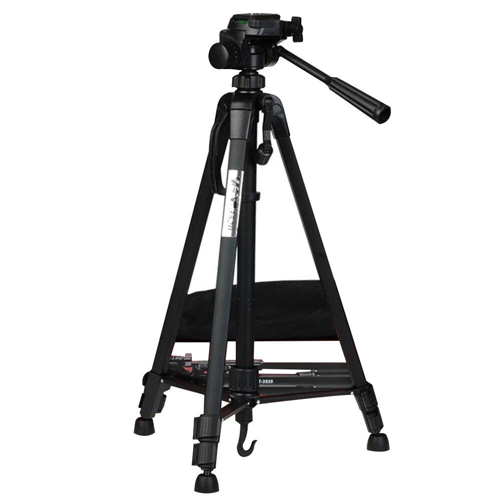 WT3520 Tripé Dobrável Retrátil Liga De Alumínio De Viagem Leve Ajustável Câmera de Vídeo Portátil Rotatable Anti Derrapante