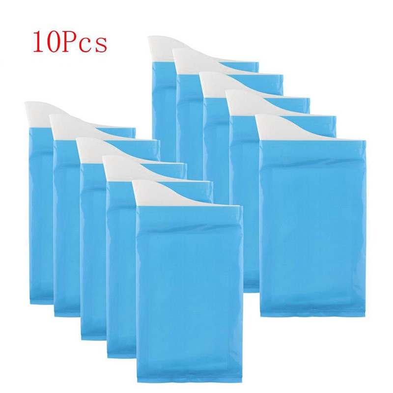 10pcsEmergency Urine sac en plein air jetable urinoir sac Portable durgence pipi sac Camping mâle femme enfants adultes salle de bain toilette