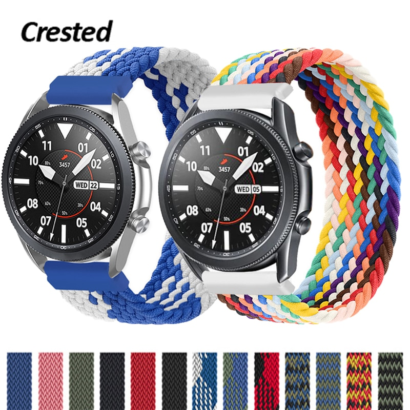 20mm 22mm Braided Solo Loop Band for Samsung Galaxy watch 3 46mm 42mm active 2 40mm 44mm Gear S3 bracelet Huawei GT2 Pro strap