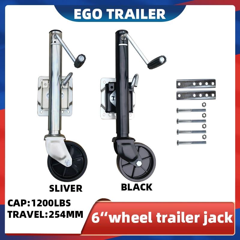 EgoTrailer 6 بوصة عجلة مصمتة 1200LBS رافعة مقطورة عجلة شدادة قارب RV قطع غيار المقطورة اكسسوارات