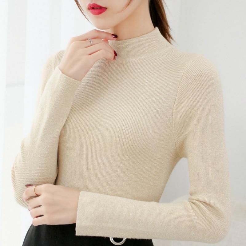 new sweater for women 2020 autumn long sleeve turtleneck women sweater pullover knitted sweater women winter clothes women C281
