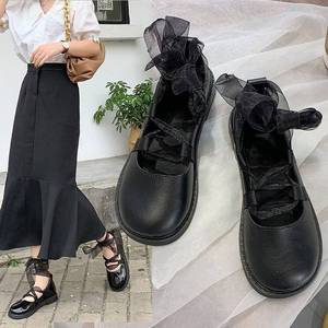 2021 Summer Leather Shoes Female British Style  New Korean Version of The Wild  Japanese Jk Strap Student Flat Shoes Women Shoes