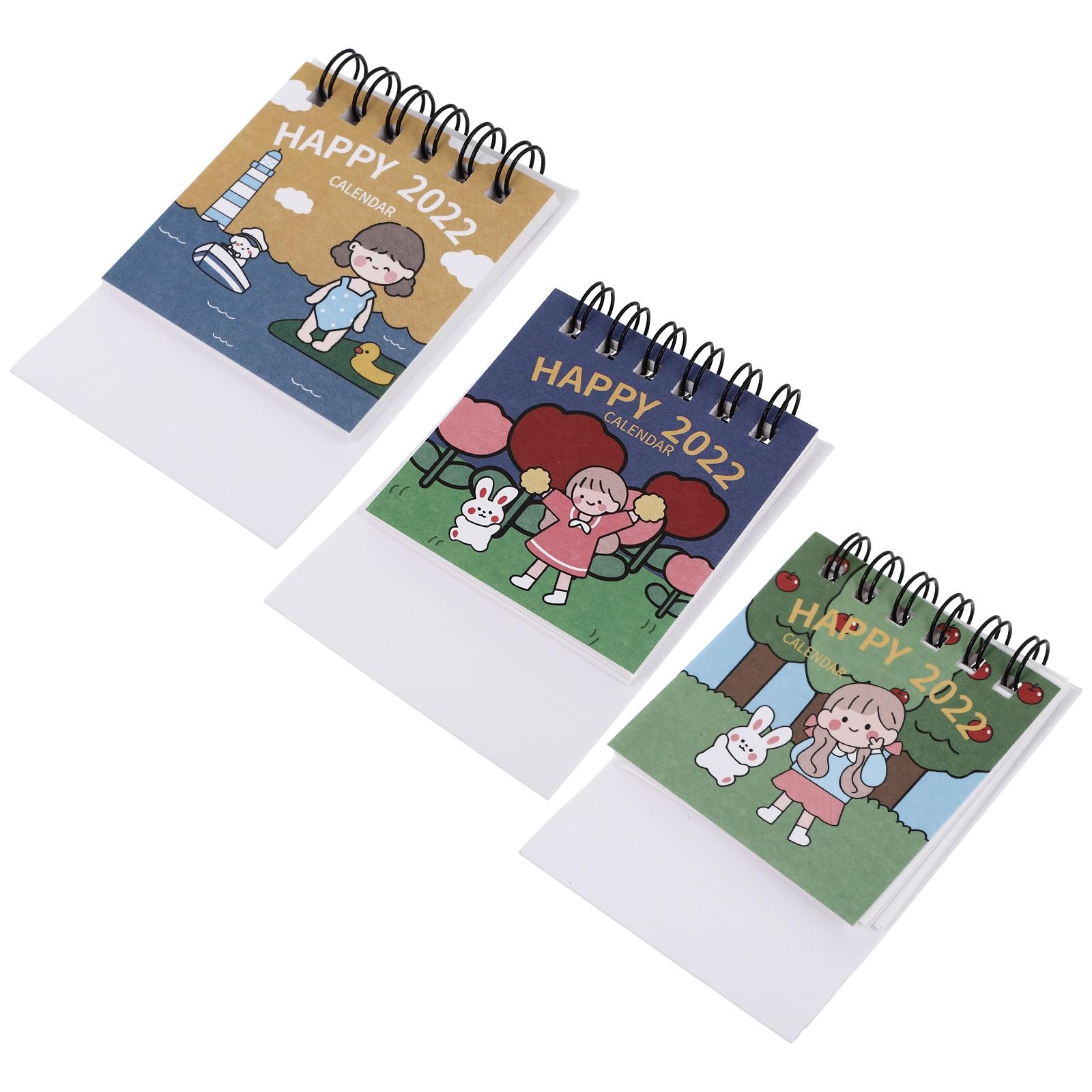 6 шт., настольные календари 2022, ежемесячные календари, планировщик, календари (разные цвета)