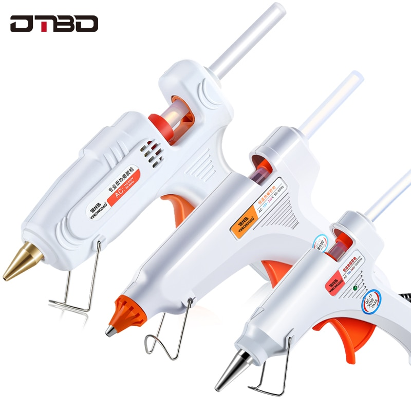 DTBD DIY Hot Melt Glue Gun Smart Adjustable Temperature Copper Nozzle Heater Mini Adhesive Glue Gun Repair Heat Tools
