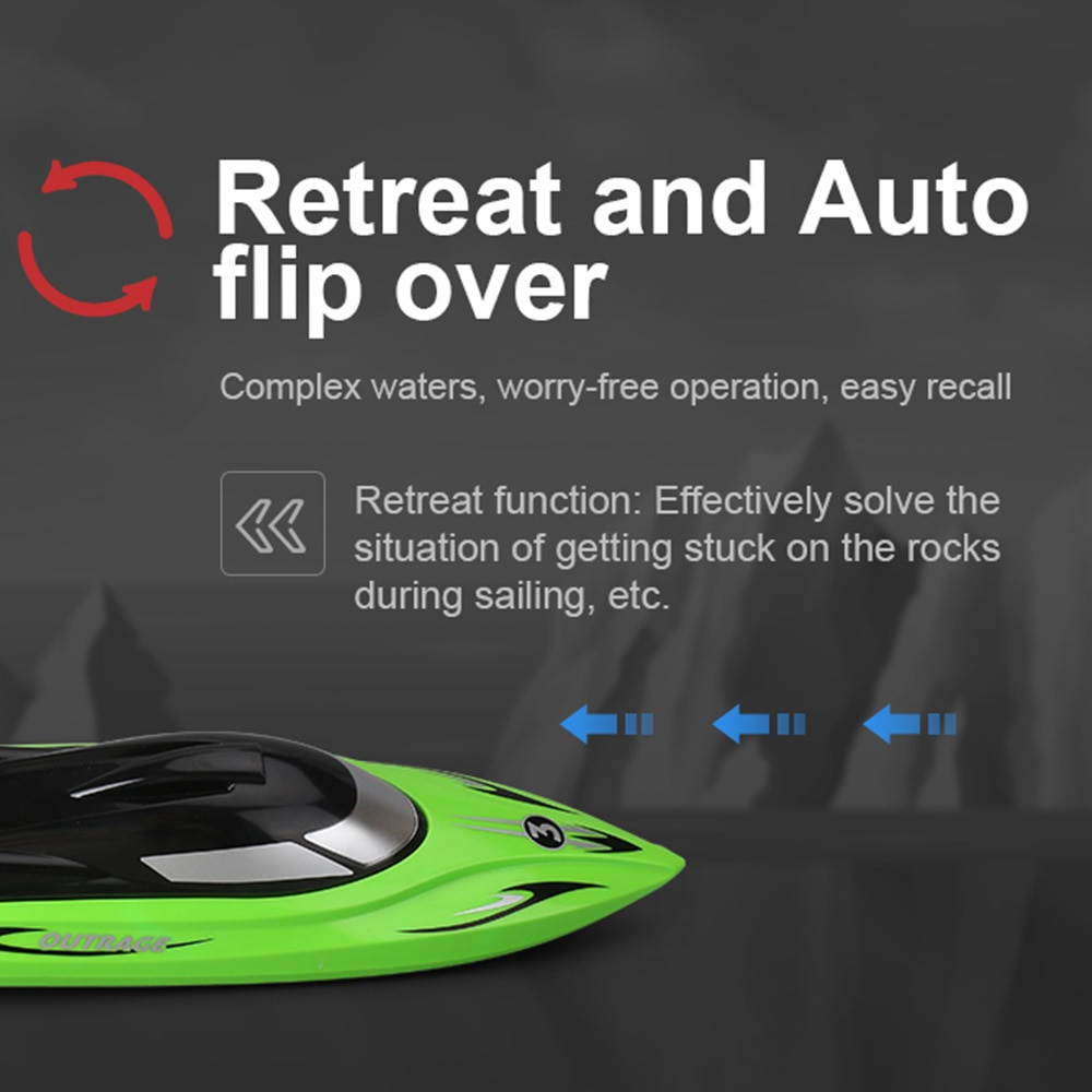 2.4 G Waterproof RC Boats High Speed Race Boat Electric RC Boat Remote Control Racing Boats for Kids Adult Anti-collision Toys enlarge
