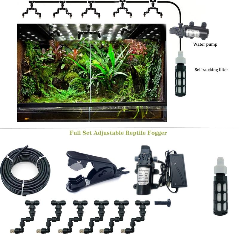 Набор системы замыкания рептилий HEMAN, аквариумный спринклер с распылителем, резервуар для тропических лесов, 360 регулируемая система охлажд...