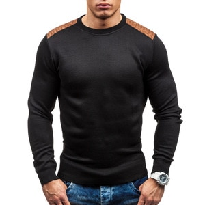 Men's O-neck Wool Pullover Patchwork Autumn Winter Warm Long Sleeve Slim Fit Clothes Cotton Knitted Casual Fashion Male Sweaters