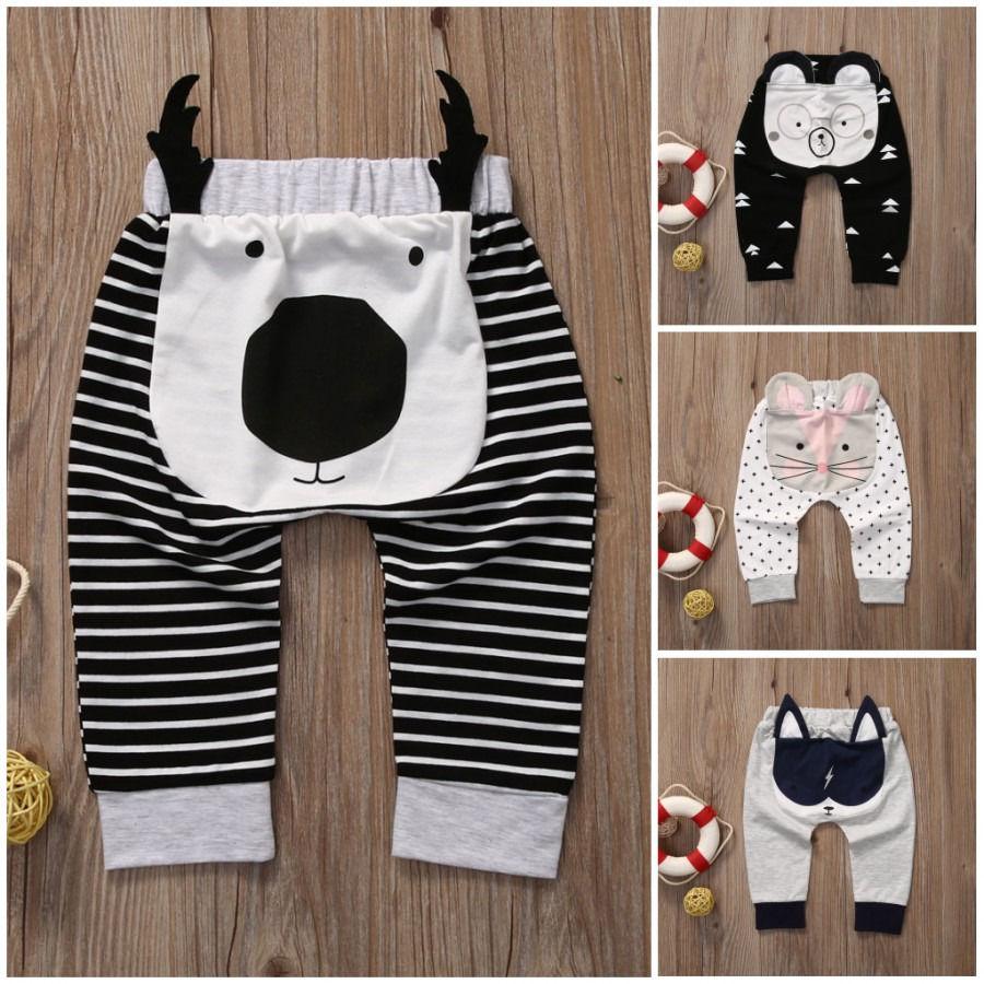 Pantalones de harén para bebés niños niñas pantalones de chándal de dibujos animados pantalones de chándal 0-24M pantalones de Busha