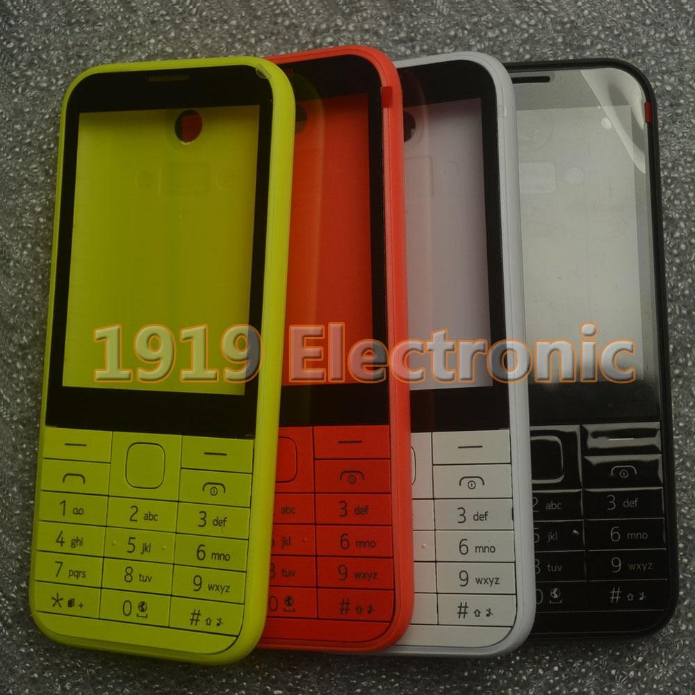 Nueva carcasa de teléfono completa + teclado Inglés o ruso o hebreo para Nokia 225 Asha N225