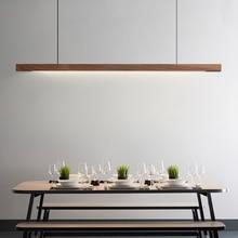 Lámpara colgante de madera minimalista para comedor, luces LED modernas para mesa de comedor, sala de estar, Bar, oficina, nórdica