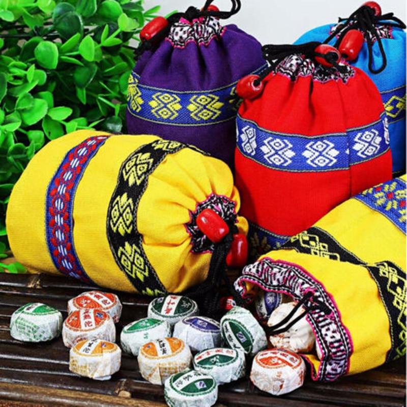 50 Uds Puer té 8 diferentes sabores 2020 Mini Yunnan Puer té chino Puerh té Chai con bolsa de regalo