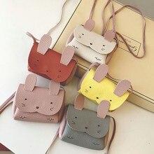 Cartoon Cute Rabbit Children's Mini Shoulder Crossbody Bags PU Leather Lovely Baby Kids Coin Purse B