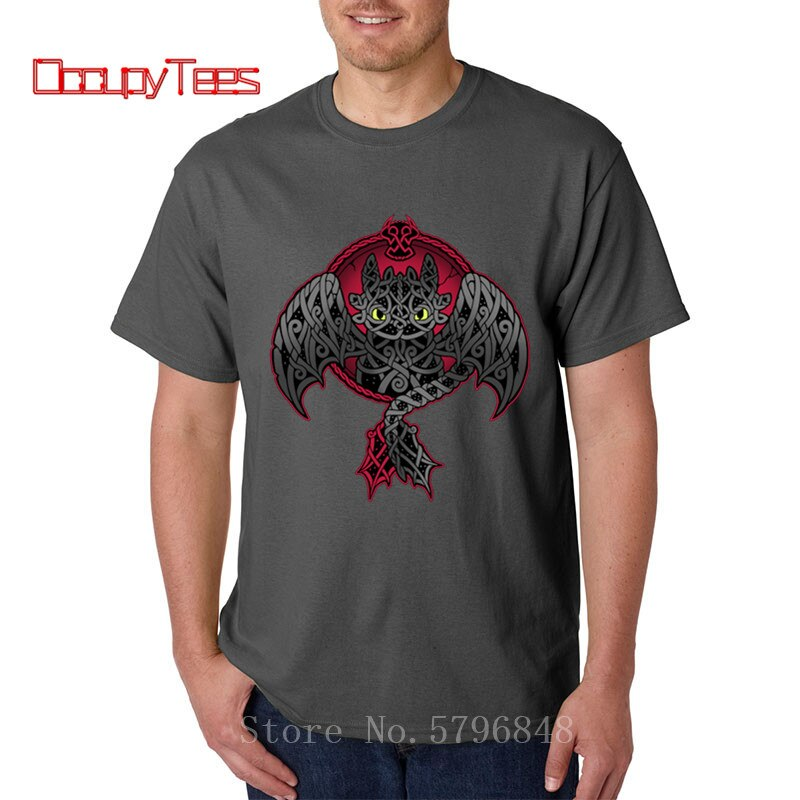 Nuevas camisetas de ojos sin dientes cómo entrenar a tu dragón 3D impreso vikingo camiseta de furia Stitch cuello redondo sudaderas divertida camiseta hombre