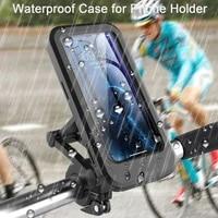 bike handlebar bag universal waterproof cell phone pouch bicycle motorcycle handlebar phone mount holder cradle with 360