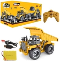 huina 1540 118 rc dump truck 2 4g 6ch remote control excavator toys alloy rc model toy engineering vehicle toy for kids car
