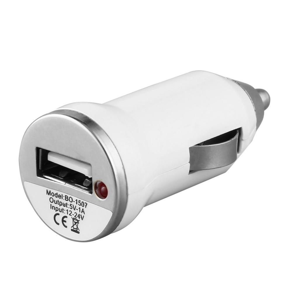 Cargador de coche USB carga adaptador de corriente entrada 12-24V salida CC 5,0 V 1000mA para Apple iPod Touch para iPhone