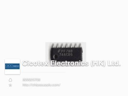 30 pçs/lote 74AC86SCX SOP14 IC GATE XOR 4CH 2-INP 14 8SOIC