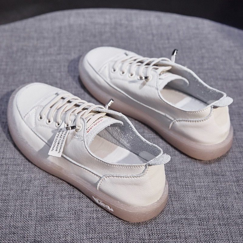 2021 Summer New women flats Shoes Women's Vulcanize Shoes Spring Summer New Casual Classic Genuine Leather shoes for women