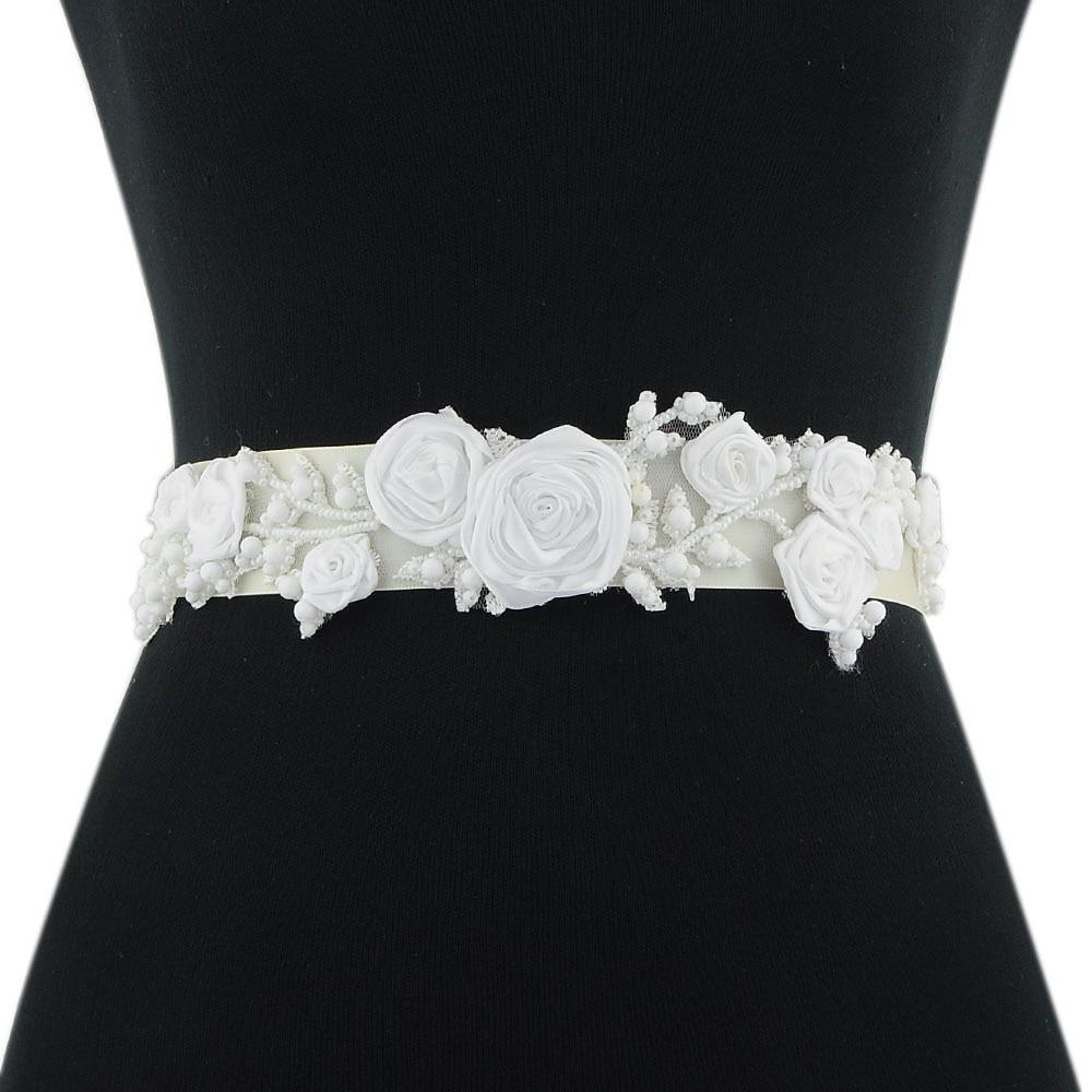 TRiXY S323-W ceinture de mariée avec fleur perle ceintures pour femmes ceinture ceinture de mariée accessoires de mariage Vintage ceinture de mariée