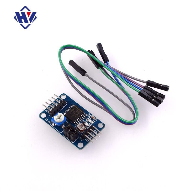 Модульный преобразующий модуль PCF8591 для освещения температуры AD/DA, шаблон преобразователя цифрового в аналоговый/цифрового в аналоговый дл...
