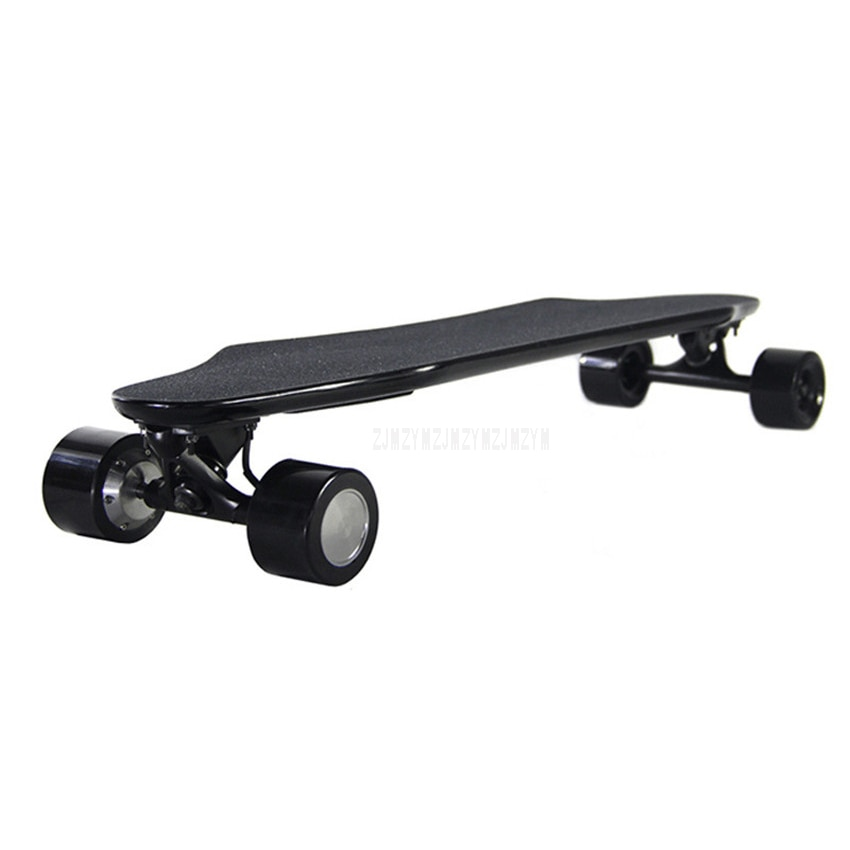 Ultra-dünne Vier Rad Elektrische Fernbedienung Doppel Motor Skateboard Erwachsenen Roller Holz Longboard Skate Board Max Geschwindigkeit 30 km/h