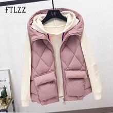 Vest Women Casual Sleeveless Blazer Hooded Jacket Chalecos Para Mujer 2019 Autumn Winter Female Korean Streetwear Vest Outerwear