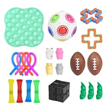 Fidget Toys Pack Pluck Sensory Antistress Toy Push Bubble Set Autism Stress Relief Toys Kids Adults