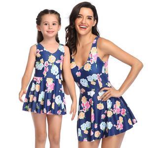 2020 new swimwear one pieces swimsuits women and girls  parent-child high waist swimwear bikini sexy bathing benchwear LX20014