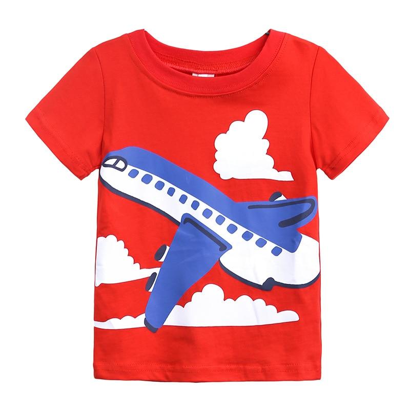 Новинка, летние детские футболки для новорожденных, одежда для мальчиков, брендовые Детские футболки с мультипликационным автомобилем для ...