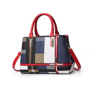 Casual Plaid Handbag Women Stitching Wild Messenger Bags Designer New Brand Plaid Shoulder Bag Female Ladies Totes Crossbody Bag