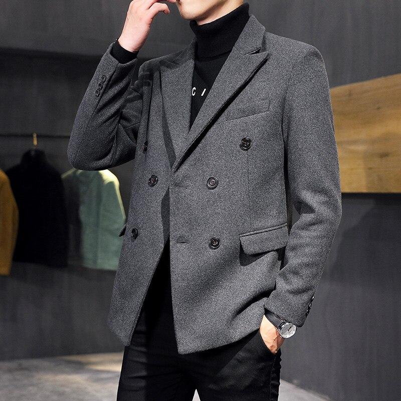 Blazer informal holgado de manga larga para hombre, chaqueta masculina de estilo...