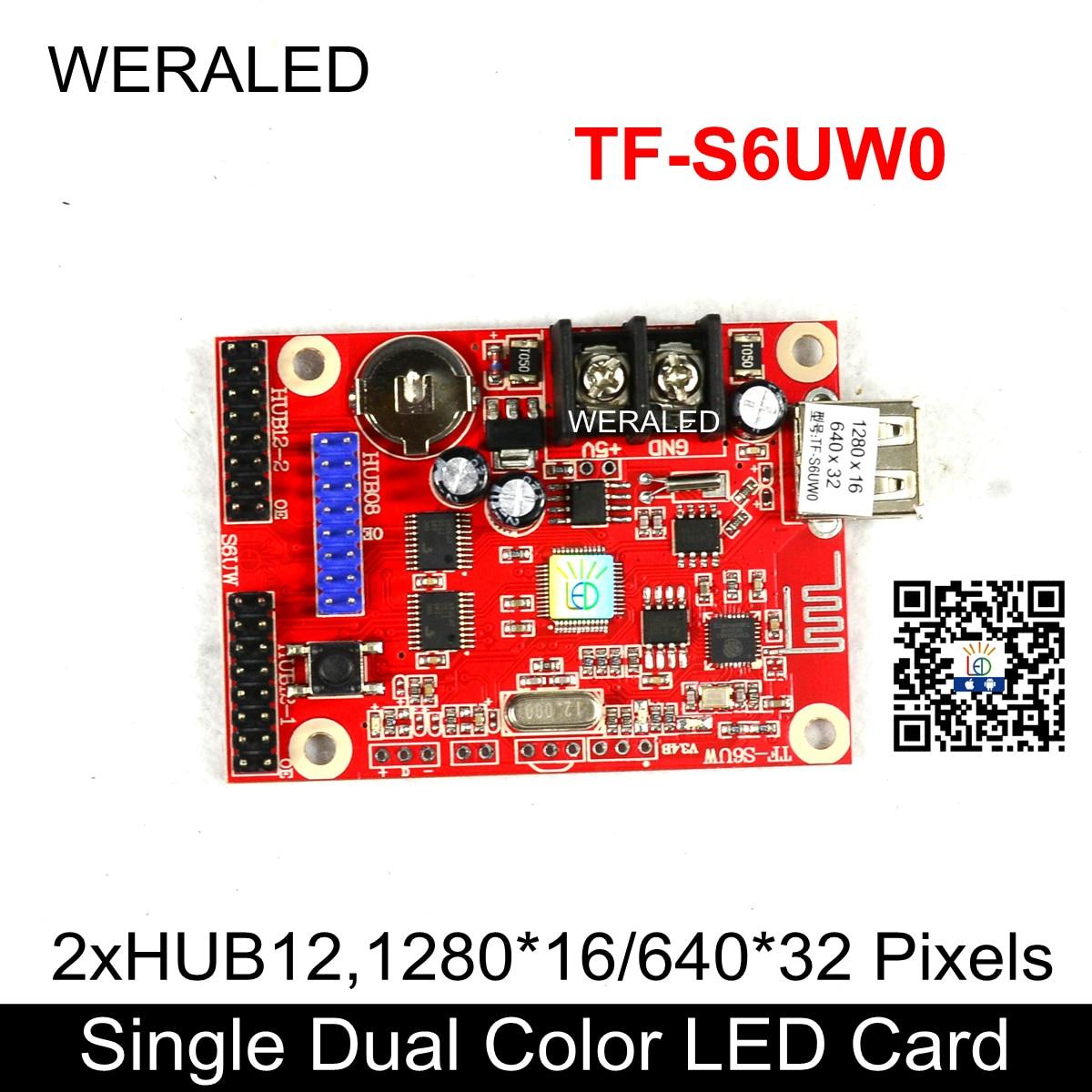 Panel de módulo LED P10 de TF-S6UW0, tarjeta de Control de señalización de mensajes LED, pequeño controlador inalámbrico WIFI