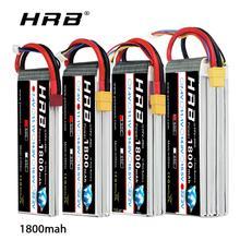 HRB RC Lipo batterie 1800mAh 7.4V 11.1V 14.8V 18.5V 22.2V Lipo 50C pour rc voiture rc bateau avion hélicoptère Trex 450 avion bateau
