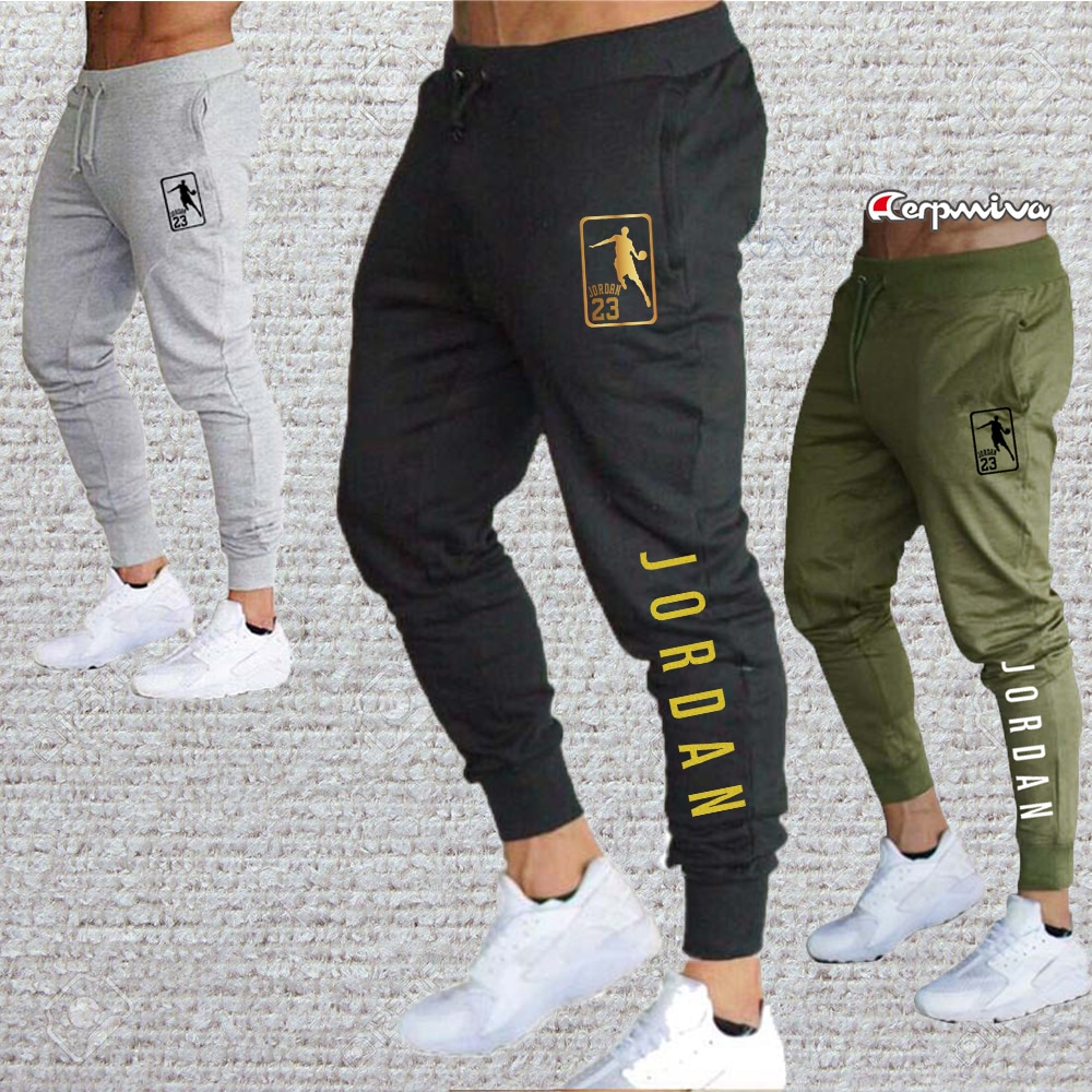 Fast deliver Men Joggers Gym for Jordan Casual Men Sweatpants Gray Joggers Homme Trousers Sporting Clothing Bodybuilding Pants