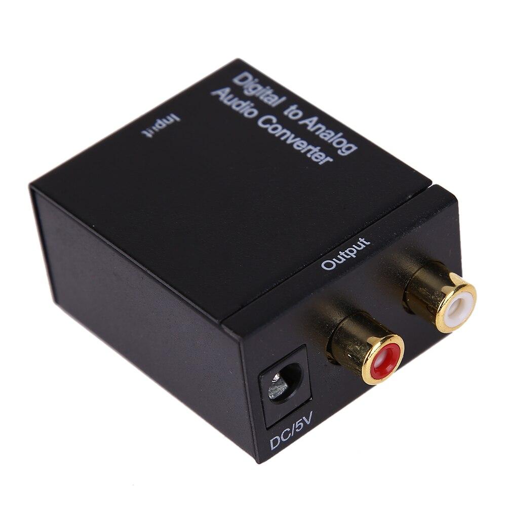Convertidor de Audio analógico Digital RCA, Adaptador Digital, señal Toslink, convertidor de...