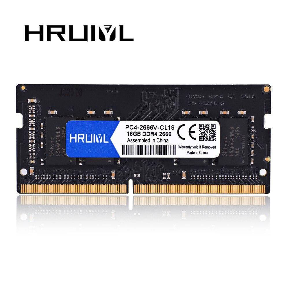 HRUIYL-MeMoria Ram para portátil, DDR3, DDR4, 8GB, 4GB, 16GB, 1066, 1333, 1600,...