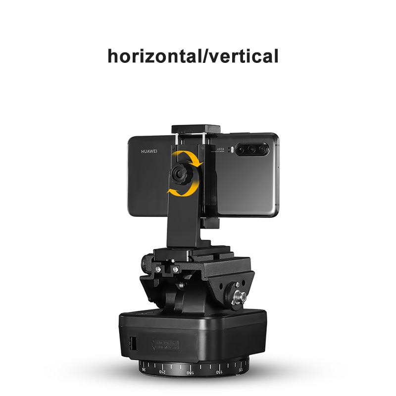 ZIFON YT-1000 Panoramic head Automatic Tripod Head Stabilizer Motorized Rotating remote control for Phones Cameras DSLR enlarge
