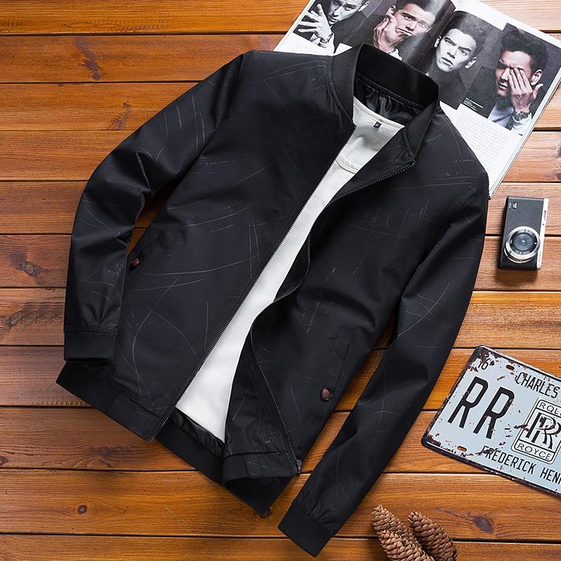 Осенне-весенние мужские повседневные куртки, модные мужские куртки, теплые куртки, приталенные повседневные пальто с воротником