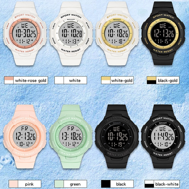 SANDA Personality Electronic Watch Fashion Multi-functional  Sports Wristwatch Outdoor Digital Creative Clock Rubber Waterproof enlarge