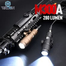 WADSN Airsoft Surefir M300A M300 Mini Scout Light RifleTactical Flashlight Dual Function Pressure Sw