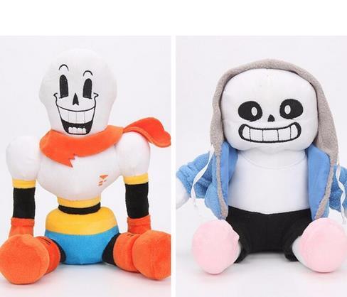 2 unids/set 30cm anime Undertale Plush Toys Undertale Sans Papyrus Asriel Toriel peluche muñeca niños nuevos regalo de Año