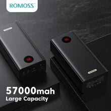 ROMOSS PEA57 Power Bank 57000mAh 18W PD QC 3.0 szybkie ładowanie 57000mAh Powerbank type-c zewnętrzna ładowarka do iPhone Huawei