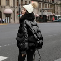 large real fox fur collar 2020 women winter jacket warm female white duck down jacket medium short parkas loose women coat